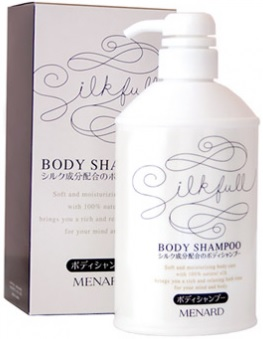 "BODY SHAMPOO SILK ШАМПУНЬ ДЛЯ ТЕЛА ""ШЕЛК"" . MENARD"