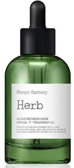 ЛЕЧЕБНОЕ ТРАВЯНОЕ МАСЛО ДЛЯ ПРОБЛЕМНОЙ КОЖИ MANYO FACTORY ACTIVE REFRESH HERB SPECIAL TREATMENT OIL. MANYO FACTORY